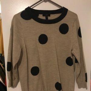 Sweaters - J. crew Polka Dot Tippi Sweater Large